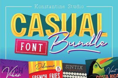 6in1 CASUAL Font Bundles