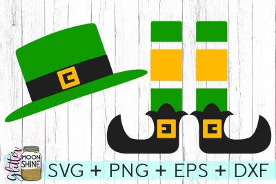 Leprechaun Hat & Legs Set SVG DXF PNG EPS Cutting Files