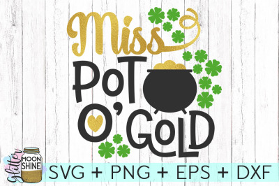 Miss Pot O' Gold SVG DXF PNG EPS Cutting Files