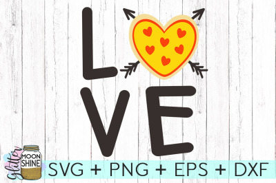 Pizza Love SVG DXF PNG EPS Cutting Files