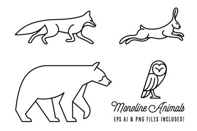 Monoline Animals Volume 1