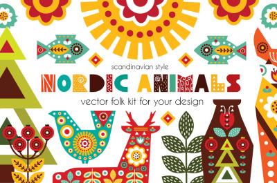 Nordic Animals - folk kit