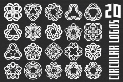 20 circular logo templates