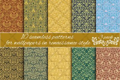 Renaissance seamless patterns Pack 3