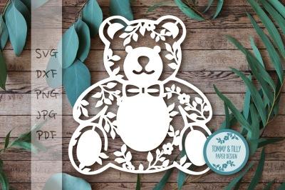 Teddy Bear x 3 SVG DXF PNG PDF JPG