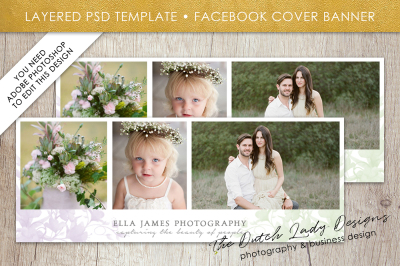 PSD Facebook Cover Banner Template #8