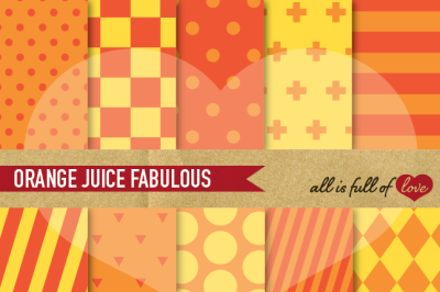 Orange Yellow Digital Paper Pack