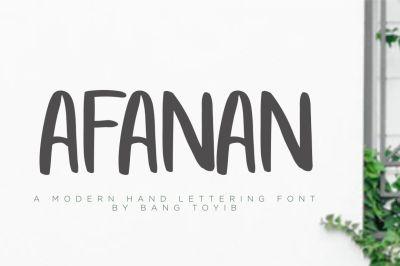 AFANAN - Handmade Font