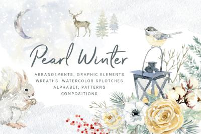 Pearl Winter. Watercolor