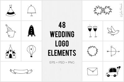 Wedding Logo Elements