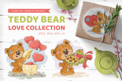 Teddy bear. Love collection.