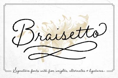 Braisetto Font Family
