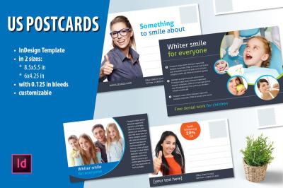 US Postcards set