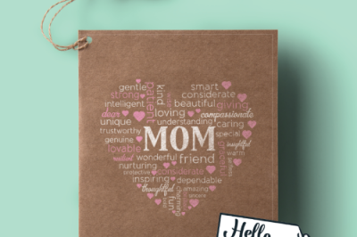 Mom Heart SVG