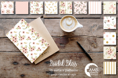 Floral Bridal Bliss Patterns AMB-1314