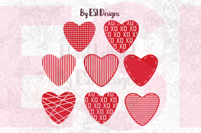 Love Heart Valentines Design Set - SVG, DXF, EPS & PNG