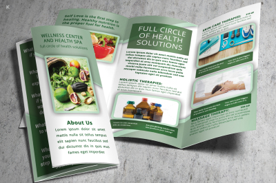 Health Care Trifold Template