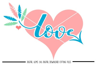 Love Heart SVG / DXF / EPS / PNG Files
