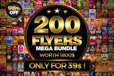 200 Flyer Templates Bundle - 98% OFF !
