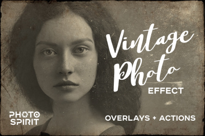 Vintage Old Photo Effect Overlays