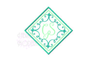 MONOGRAM FRAME, wedding design, traditional embroidery, Victorian Embr