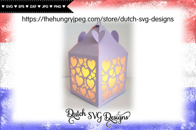 Lantern cut file with hearts, lantern svg, love svg, valentine svg