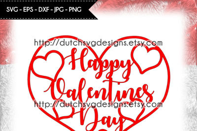 Happy Valentines Day cutting file, for Cricut & Silhouette