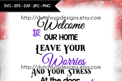 Text cutting file Welcome to our Home