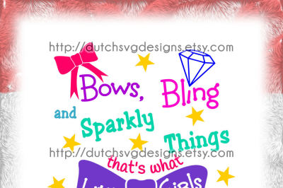 Text cutting file Girls, girl svg, girls svg, bows svg, bling svg