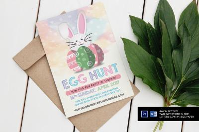 Easter Egg Hunt Party Invitation/Flyer