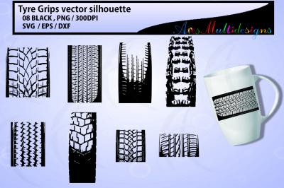 Tyre grip SVG vector clipart / cute tyre grip clipart / tyre clipart /