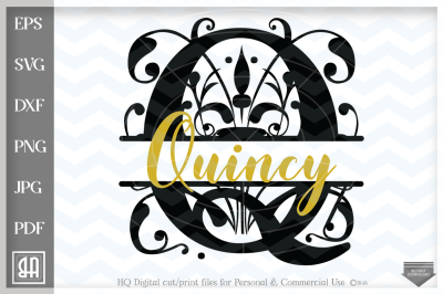 Regal Split Monogram Letters SVG - Regal Split Monogram Letters - Rega