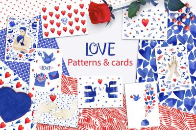 Valentine's patterns & cards. Love