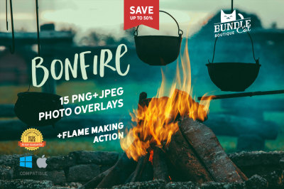+15 Bonfire Photo Overlays