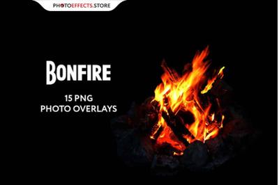 +15 Bonfire Photo Overlays