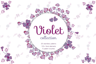 Big Violet Collection. Patterns and Brushes