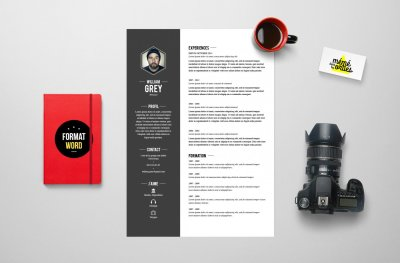 CV Grey - Resume template Word