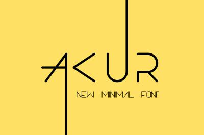 Akur font