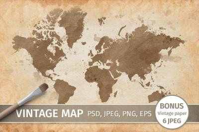 Vintage map Clip Art