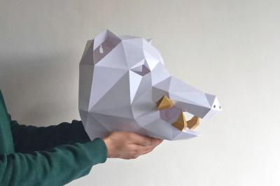 DIY Boar Head Trophy - 3d papercraft