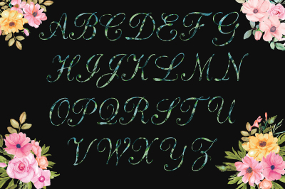 Sparkly Letters Clipart
