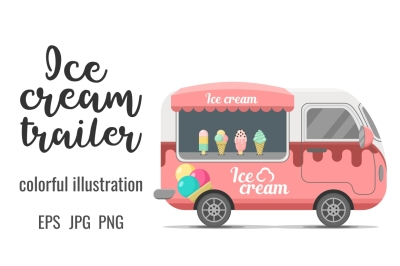 Ice cream street food caravan trailer