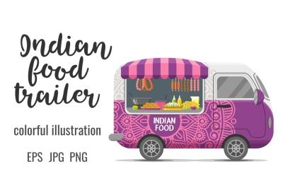 Indian street food caravan trailer