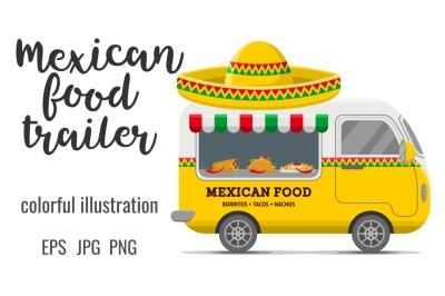 Mexican food street caravan trailer