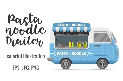 Pasta and noodle street food caravan trailer