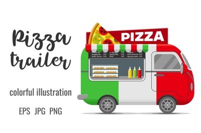 Pizza street food caravan trailer