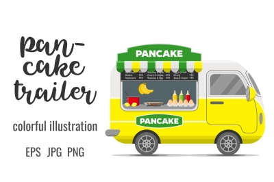 Pancake street food caravan trailer