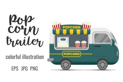 Popcorn street food caravan trailer