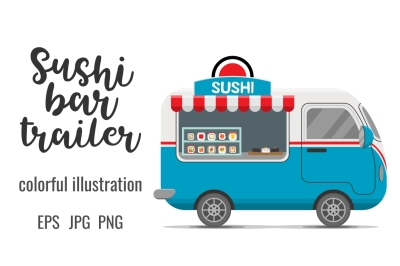 Japanese sushi rolls street food caravan trailer