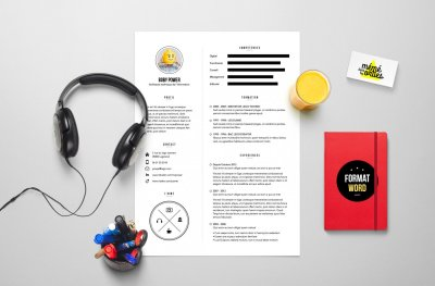 CV Power - Resume template Word